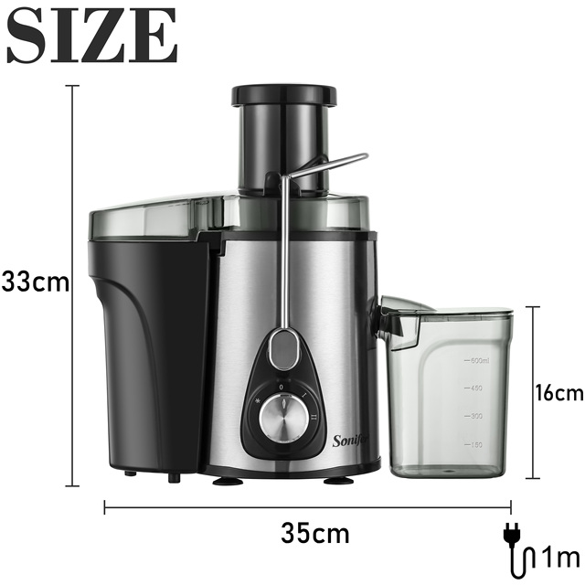 220V Stainless Steel Juicers 2 Speed Electric Juice Extractor Fruit Drinking Machine for Home Sonifer 6