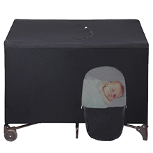 Baby Bed Cover Breathable Blackout Portable Crib Shade Sunshade Baby Bed Accessories