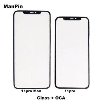 Mobile Phone Glass With OCA Film for iPhone 11Pro MAX 11Pro 11 LCD Touch Screen Display Front Panel Lens Repair Spare Parts