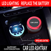 CHEPINFA LED Lighting Car Ashtray High Flame Retardant Auto Ashtray Fireproof Material Fit Most Cup Holder Ashtray Easy Clean review