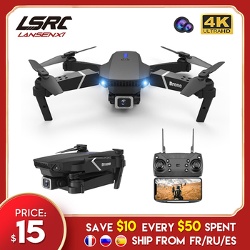 LSRC E525 RC drone with wide-angle HD 4K 1080P dual camera height keeping Wifi RC foldable quadrotor drone gift toy 1