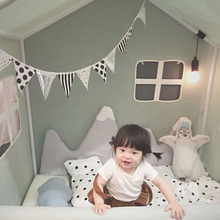 Tent Room-Decor Snow for Babies Mountain-Shape Crib Bumper Fence-Protector Infant HM0016