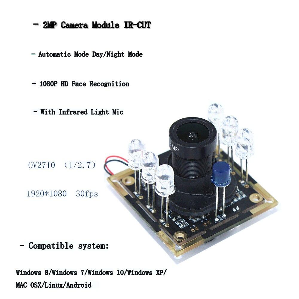 HBVCAM 2MP Modulo Della Macchina Fotografica IR-CUT Modalità Automatica Modalità di giorno di Notte di Luce A Infrarossi 1080 P HD Viso di Riconoscimento