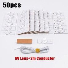 Lâmpada grânulo contas lente fliter placa para 32-65 Polegada led tv reparação bulbo smd