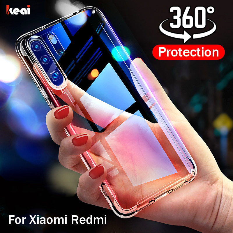 360 Full Cover Case For Xiaomi Redmi Note 8 7 6 5 Pro K20 7A 8A 8T For Xiaomi Mi 9T Note 10 Pro 9 Lite SE A3 A2 Shockproof Case(China)