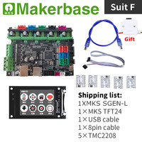 32 bit 3d impressora mainboard mks sgen l + mks tft2.4 polegada tela sensível ao toque colorido lcd + driver passo 3d impressão peças de reposição|Peças e acessórios em 3D| |  -