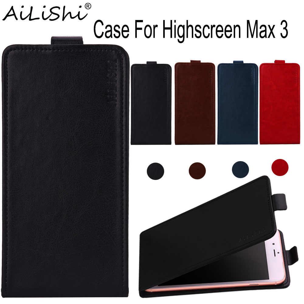 AiLiShi حالة ل Highscreen ماكس 3 فليب أعلى جودة الجلود حالة Highscreen الحصري 100% الهاتف واقية غطاء الجلد + تتبع