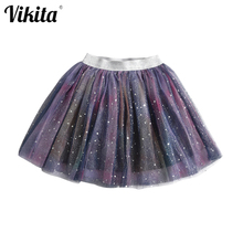 Princess Tutu Skirts Sequins VIKITA Glitter Casual-Wear Dance Stars Party Girls Baby