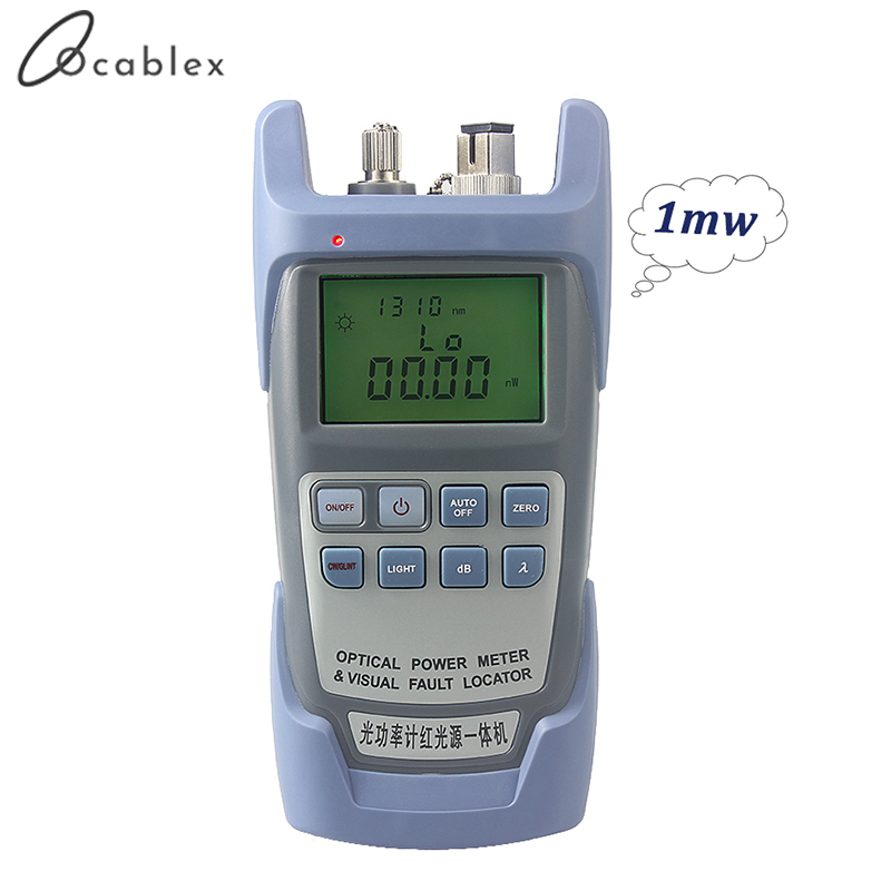 Free Shipping AUA 9 Laser Power FTTH Fiber Optic Optical Power Meter Cable Tester