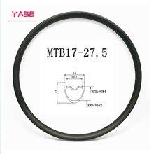 цена на bicycle wheel carbon rim 27.5er 650B mtb 24x24mm bike wheel ERD 552mm tubeless wheel carbon disc mtb rims bicycle accessories