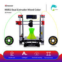 ZONESTAR Heißer Verkauf Billig Dual Extruder Schwarz Metall i3 Auto Mix Open Source Upgrade Laser Gravur RepRap 3D Drucker DIY kit