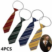 Детский и взрослый галстук гриффиндо/Слизерин/раванкла/пуффендуй/галстук для мальчиков и девочек в стиле колледжа Косплей эластичная лент...