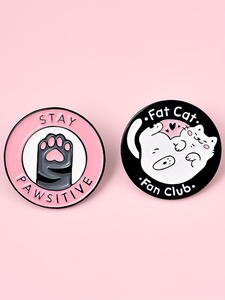 Lapel Pin Brooches Shirt Jewelry Jeans Badge Custom Club Cat-Planet Gift Cats Enamel-Pin
