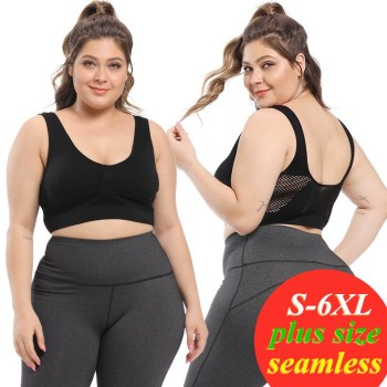 S-6XL bra plus size sports Bra seamless sexy push up bralette Women's lingerie bras  for women top Female Pitted Wireless bra 1