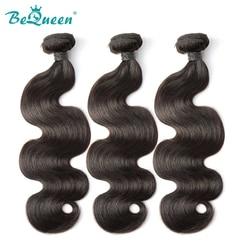 Tissage brésilien Non Remy 100% naturel-BeQueen, cheveux humains, Extension capillaire, Body Wave, lot de 3 4 pièces, 22 24 pouces
