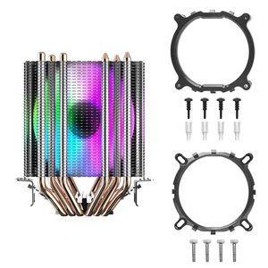Image 5 - Darkflash cpuクーラー 6 ヒートパイプデュアルタワーヒートシンク 3pin 90 ミリメートルファンrgb熱グリースcpu空気冷却器LGA775 115x/1366/2011