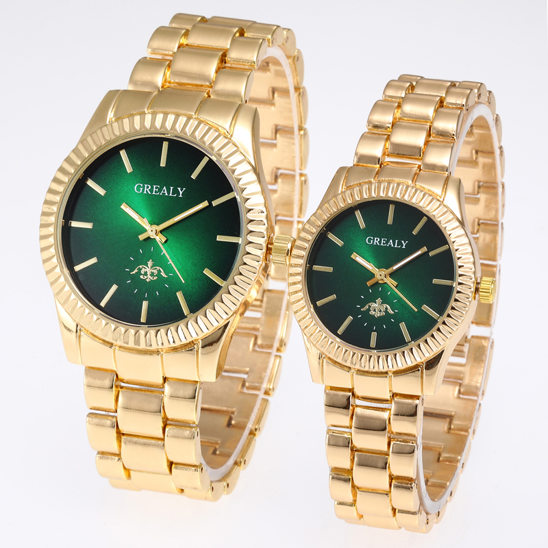 Reflective Luxury Wristwatch Ladies Pair Watch Femme Stainless Steel Strap Couple Watches Lovers Women Man Quartz Female
