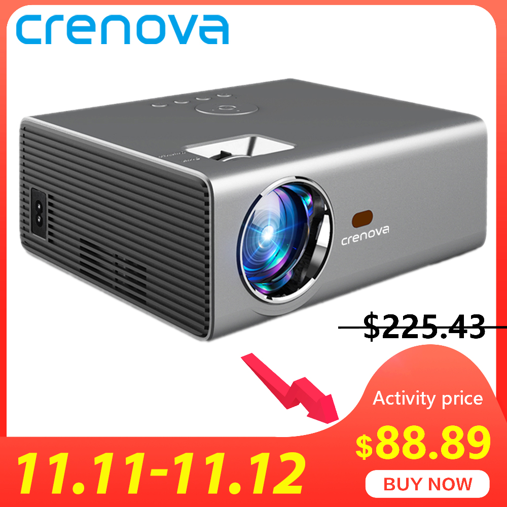 CRENOVA 2019 Newest LED Projector HD 1280*720P Android 6.0OS 3800 Lumens Home Cinema Movie Android Projector With WIFI Bluetooth-in LCD Projectors from Consumer Electronics