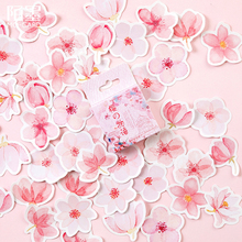 45pcs/box Lovely Cherry Blossom Story Decoracion Journal Stickers Scrapbooking Stationery Student Office Supplie