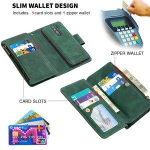 Image 2 - Zipper Flip Case For Xiaomi Redmi Note 7 8 Pro 9 Pro 8T 7A K20 Mi Note 10 CC9 Detachable Leather Magnet Wallet Stand Cover Coque