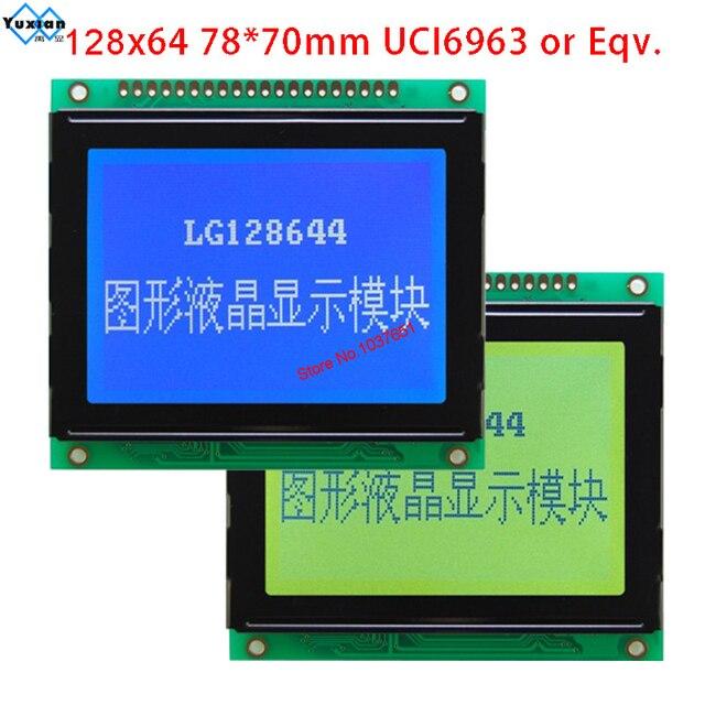 128X64 display lcd T6963C o UCI6963 LG128644 blu 78x70 cm WG12864D LM12864T AG12864D di alta qualità si applicano per apparecchiature di potenza
