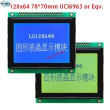 128X64 wyświetlacz lcd T6963C lub UCI6963 LG128644 niebieski 78x70 cm WG12864D LM12864T AG12864D wysokiej jakości stosuje się, aby sprzęt elektryczny