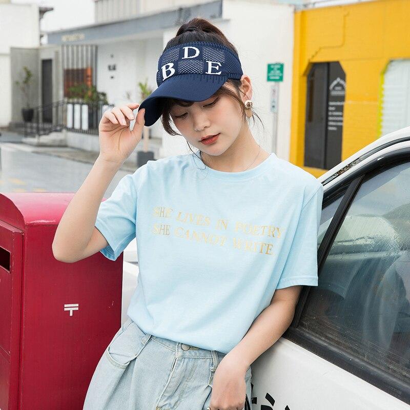 New Arrival Women Fashion Sport Sun Visor Hat Sun Shelid Caps For Running Tennis UV Protection