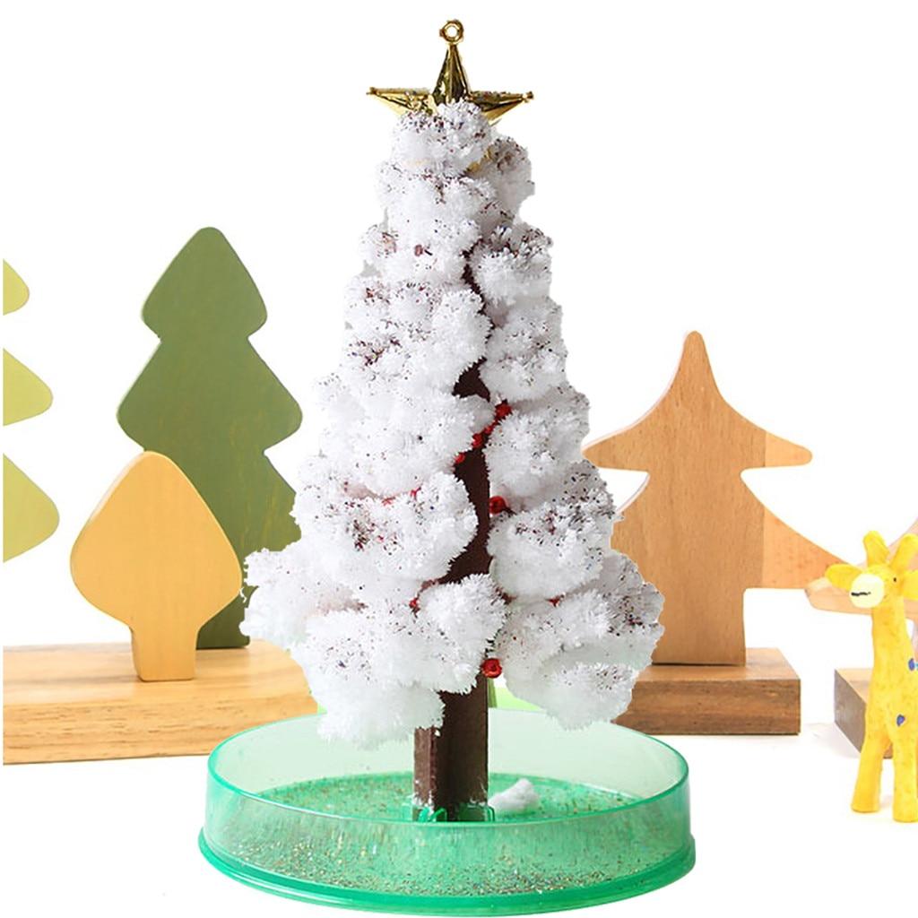 Diy juguetes hechos a mano para niños Navidad árbol de papel floreado juguete creativo colorido papel mágico artesanías regalo de Navidad niñas juguetes educativos No8 Gran Luz LED atrapasueños DIY boda decoración doble círculo pluma blanca decoración colgante de pared para niñas regalos de dormitorio