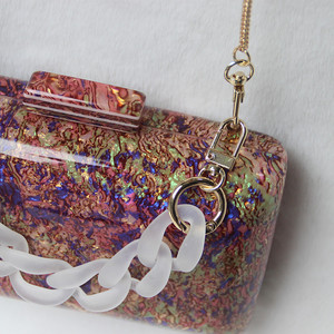 Image 4 - New Trendy Acrylic Bag Brand Fashion Women Handbag Red Geometric Luxury Wedding Party Evening Bag Woman Casual Box Clutch Purse