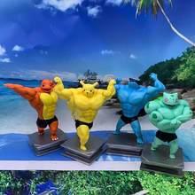 Anime Pokemon PVC juguetes muñeca modelo colección Pikachu Charmande Cosplay hombre del músculo Squirtle Psyduck Caja figura para niños regalos