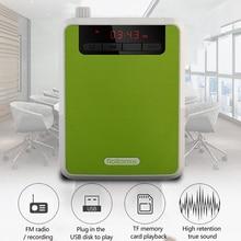 Rolton K300 Megaphone Portable Voice Amplifier Waist Band Clip Support FM Radio TF MP3 Speaker Power Bank Guides Teache Speech