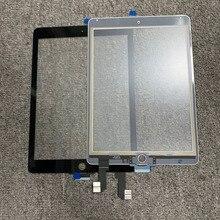 """10 Uds. Para iPad 6 para iPad Air 2 2nd Gen A1566 A1567 9,7 """"Digitalizador de pantalla táctil LCD Panel exterior Sensor pieza de repuesto"""