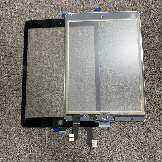 """10 adet iPad 6 için iPad hava 2 için 2nd Gen A1566 A1567 9.7 """"dokunmatik ekran Digitizer LCD dış Panel sensör yedeği parça"""