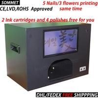 CE Nails art machine 5 nails printing machine DIY nail printer 5 nails painting a time digital nail and flower printer