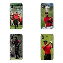 For Sony Xperia Z Z1 Z2 Z3 Z5 compact M2 M4 M5 E3 T3 XA Aqua LG G4 G5 G3 G2 Mini Tiger Woods Soft Transparent Shell Covers(China)