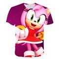 Новый для 2021 футболки Sonic Kids футболка куртка из искусственной кожи для мальчиков и девочек от одного года до пяти лет с героями мультфильмов ...