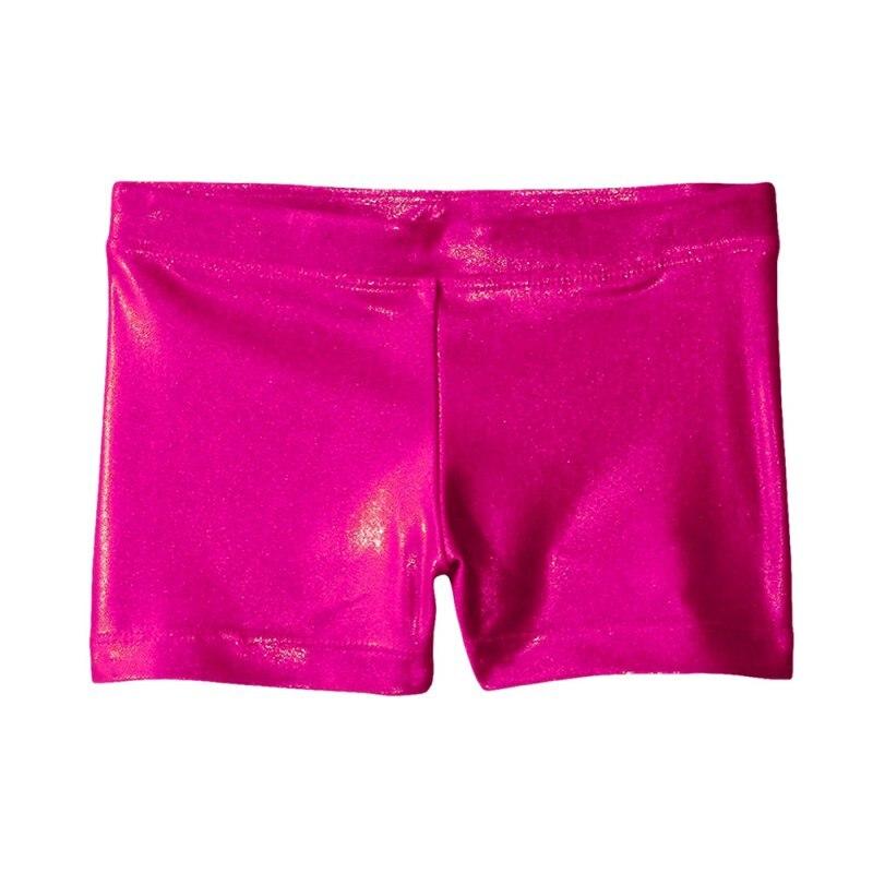Гимнастикой для девочек костюм Шорты высококачественный яркий цвет корпуса балета, для занятий гимнастикой, практические занятия танцами одежда Шорты - Цвет: rose red
