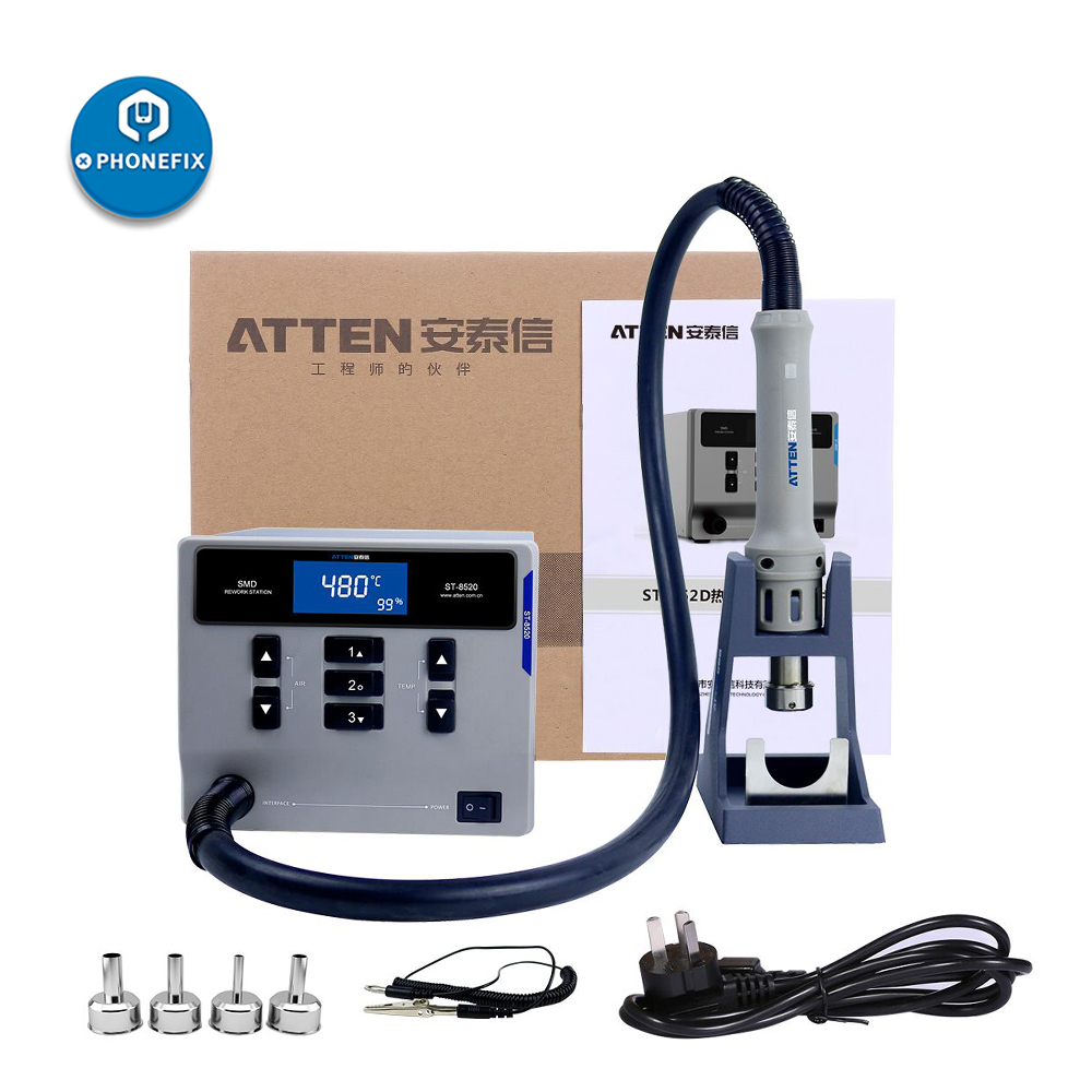 ATTEN ST-862D 1000W Hot Air Gun Intelligent Digital Display BGA Rework Station For Mobile Phone PCB Repair Desoldering Station