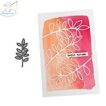 Metal Cutting Scrapbook-Paper Stencil Dies Photo-Album Leave CH 2 Greeting-Card-Decoration