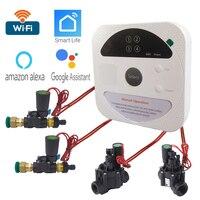 Temporizador de riego inteligente con conexión WIFI, controlador de riego de jardín, válvula de agua a prueba de agua, sistema de riego inteligente
