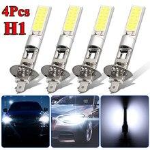 4 pces h1 led farol alto baixo feixe de luz smd lâmpadas veículo lâmpada 6000k 12v 100w trabalho à prova dwaterproof água lâmpada acessórios do carro em estoque