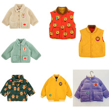 2020 New Korean Design Kids Winter Clothes Boys Clothes Down Jackets Warm Baby Girls Fur Coats Cotton Outwear Tops Bubble Coat