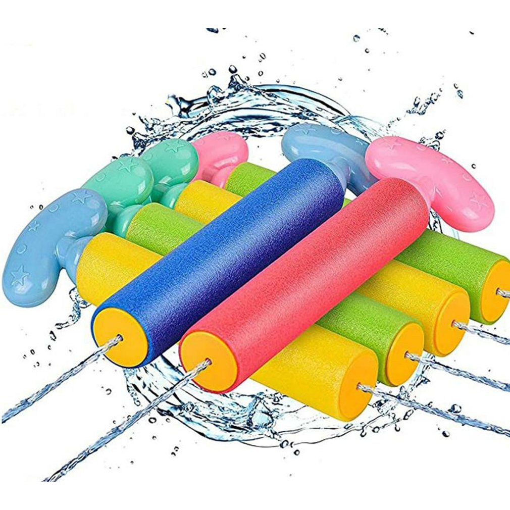6 Pack Foam Water Blaster Set Pool Toys Water Toy for Kids Water Toy Blaster send out Swimming Pool Outdoor Beach Play Game