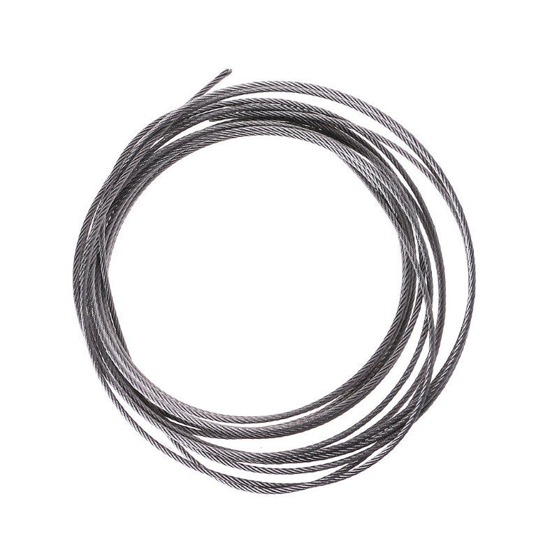 New 5m 304 Stainless Steel Wire Rope Soft Fishing Lifting Cable 7×7 Clothesline