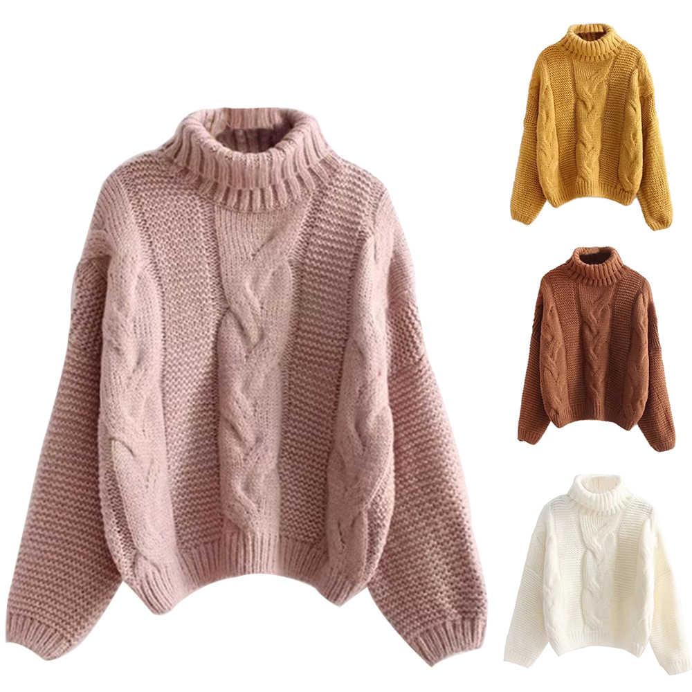 가을 겨울 여성 패션 스웨터 기본 여성 풀오버 Batwing 슬리브 솔리드 컬러 Femme 캐주얼 니트 Streetwear
