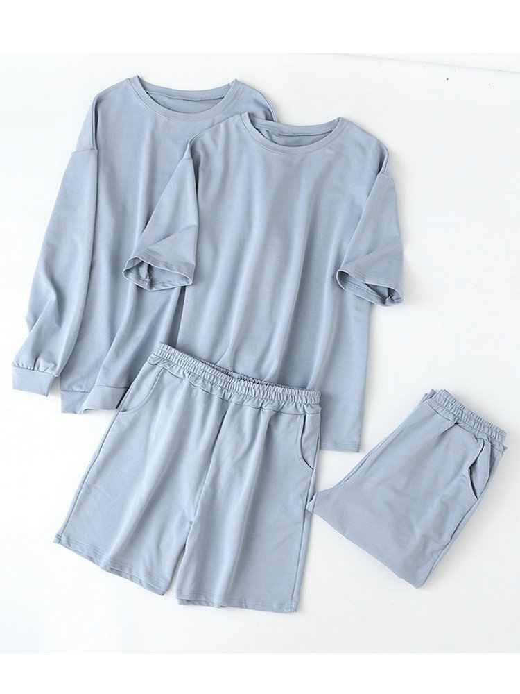 Pants Suits Sweatshirt Shorts Hoodies Oversized-Sets Tangada Autumn 95%Cotton-Suit Women