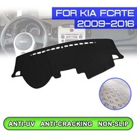 Car Dashboard Mat Anti dirty Non slip Dash Cover Mat UV Protection Shade for KIA Fcrte 2009 2010 2011 2012 2013 2014 2015 2016-in Auto-Anti-Schmutz-Pad aus Kraftfahrzeuge und Motorräder bei