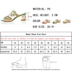 Image 5 - Lucyever Women Fashion High Heels Slipper Sexy Peep Toe Hollow Out Crystals Party Shoes Woman Summer Slip on Beach Flip Flops