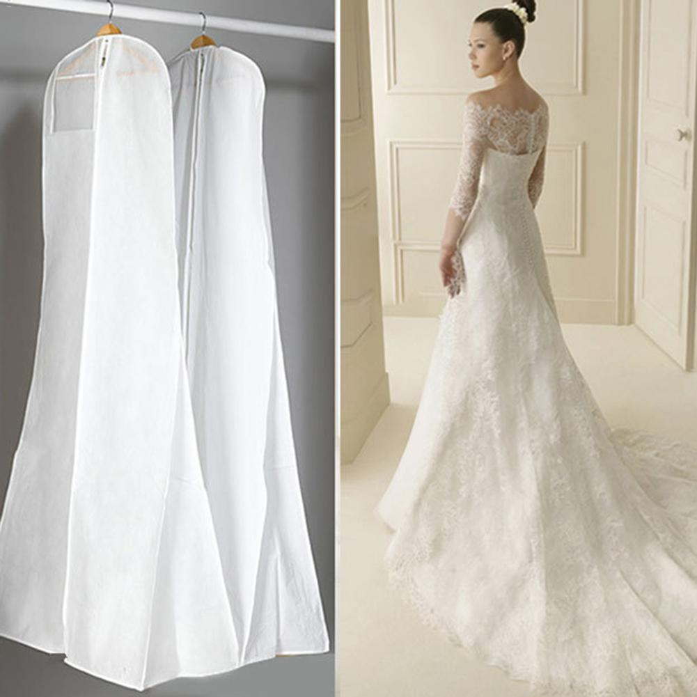 Large Garment Bridal Gown Long Clothes Protector Case Wedding Dress Cover Dustproof Covers Storage Bag For Wedding Dresses