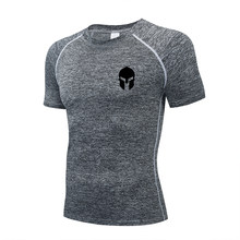 The latest compression sports men's fast suit running fitness MMA jogging fitness suit in spring and summer